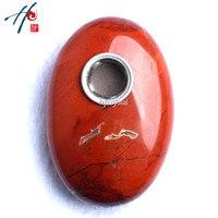 Yeni 5-6 cm Yüksek Kalite Doğal Şifa Kuvars kristal Oval Taş Sigara Sigara Tütün Taş Boru Dekor Noel hediye