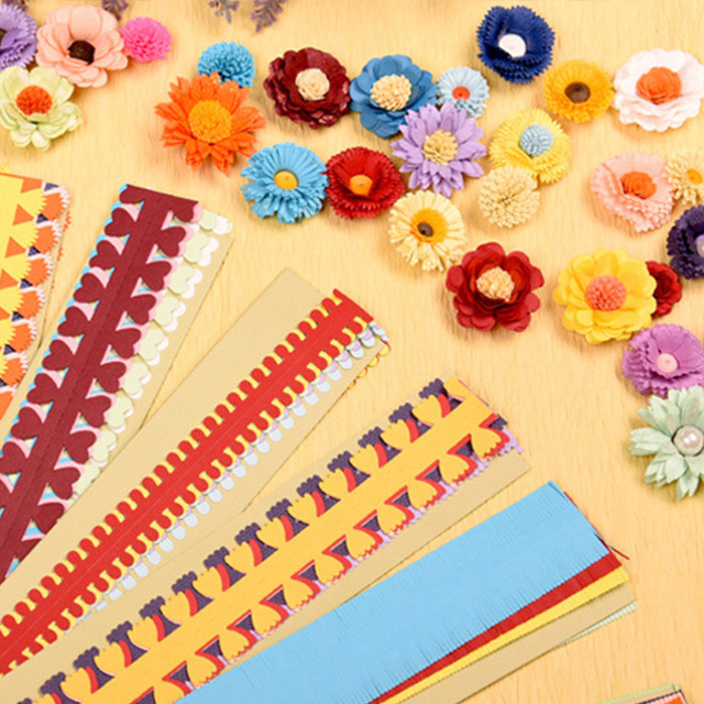 20 Stripes Flower Quilling Paper Strips DIY Paper Hand Craft Colorful Origami DIY Scrapbooks Handmade Decoration
