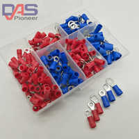 190pcs 6sizes RV Crimp Terminal Ring connector kit Wire Copper Crimp Connector Insulated Cord Pin End Terminal