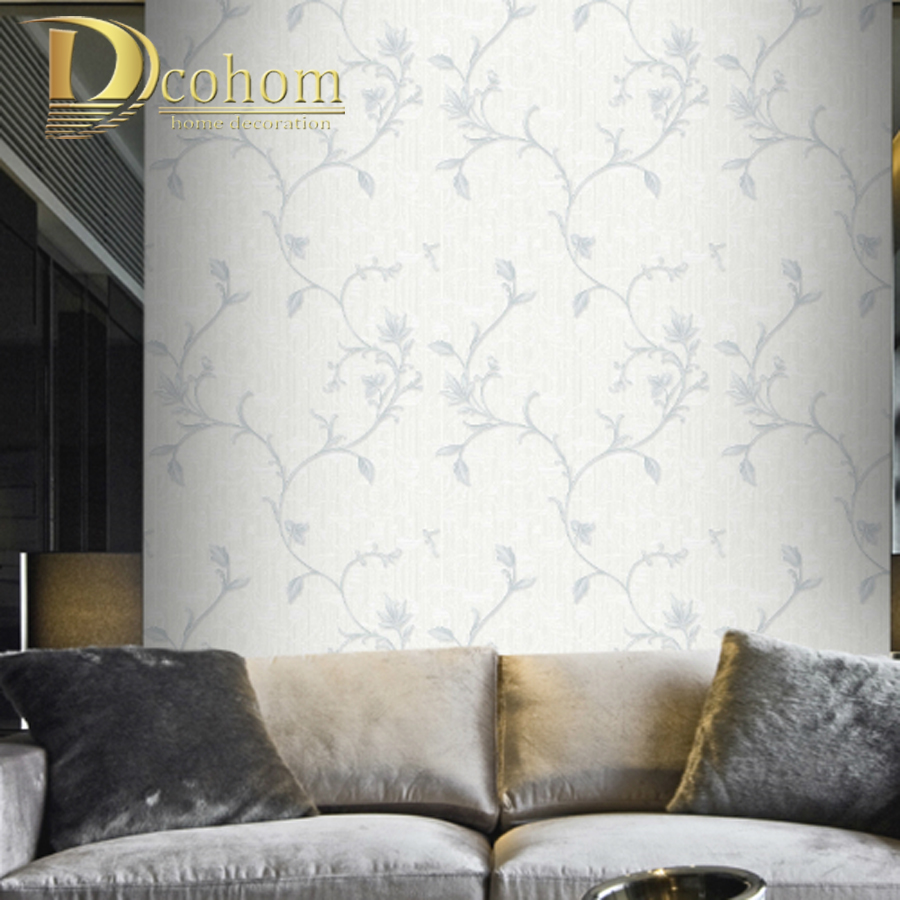 Waterproof Luxury Gray Gold Flower Textured Wallpaper 3D Vinyl Floral Embossed Blossom Wall Coverings Rolls papel de parede red vintage brick wallpaper 3d textured wall paper thick waterproof vinyl wall coverings