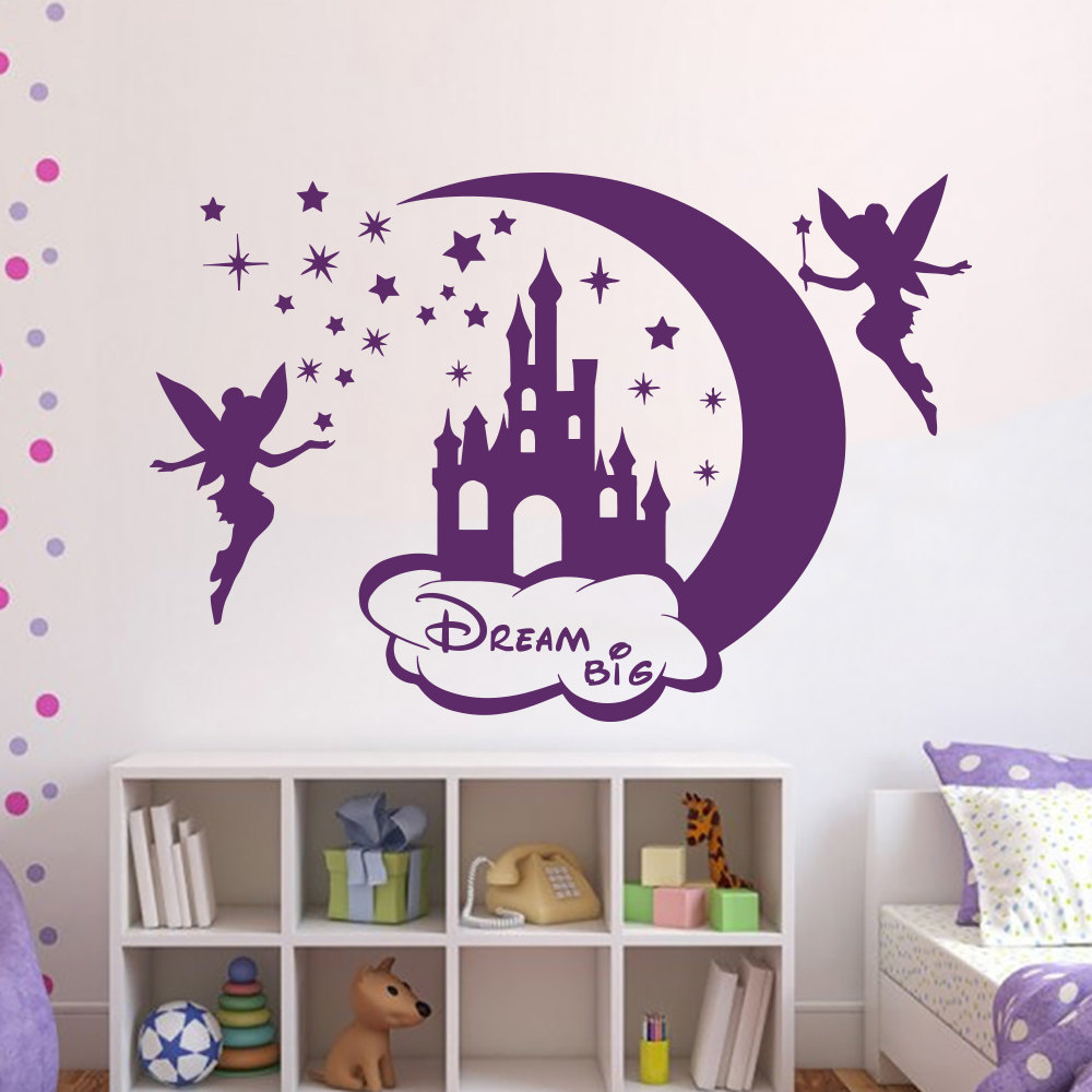 Tinkerbell Wall Decals Disney Princess Silhouette Fairy Pet