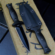 Wysokiej jakości stal kieszonkowy noże taktyczne ostrze stałe nóż Survival narzędzia ratownicze noże myśliwskie polowanie walka sprzęt turystyczny tanie tanio Maszyny do obróbki drewna Fixed blade knife B-xzd22 EVERRICH 440Steel ABS Plastic