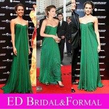 Jessica Alba Wald Grünen Kleid zu Fantastische Vier Premier Reich Mutterschaft Abendkleid für Schwangere Frauen Promi Kleid