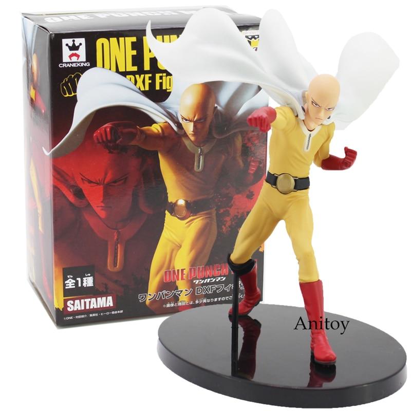 Anime One Punch Man DXF Saitama PVC Figure Collectible Model Toy 20cm one punch man saitama figma 310 pvc action figure collectible model toy