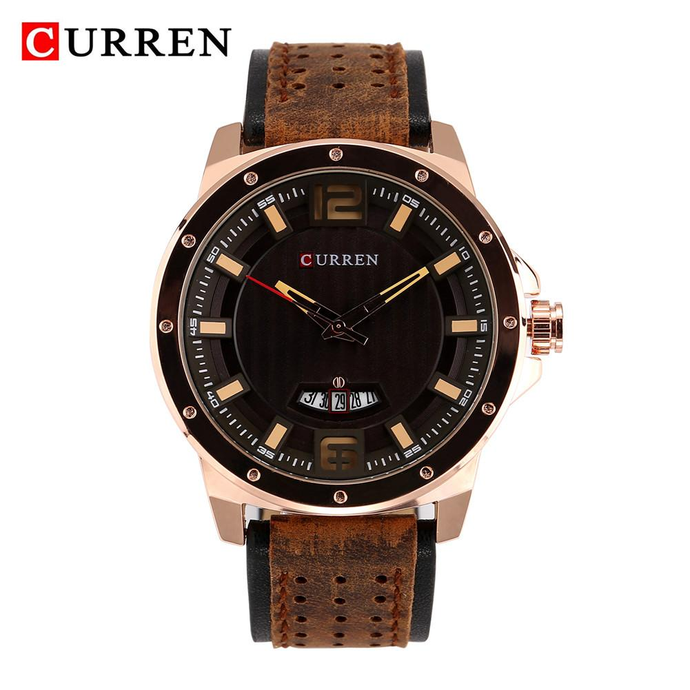 relogio masculino CURREN Watch Men Military Quartz Watch Mens Watches Top Brand Luxury Leather Sports Wristwatch Date Clock 8293 oulm mens designer watches luxury watch male quartz watch 3 small dials leather strap wristwatch relogio masculino
