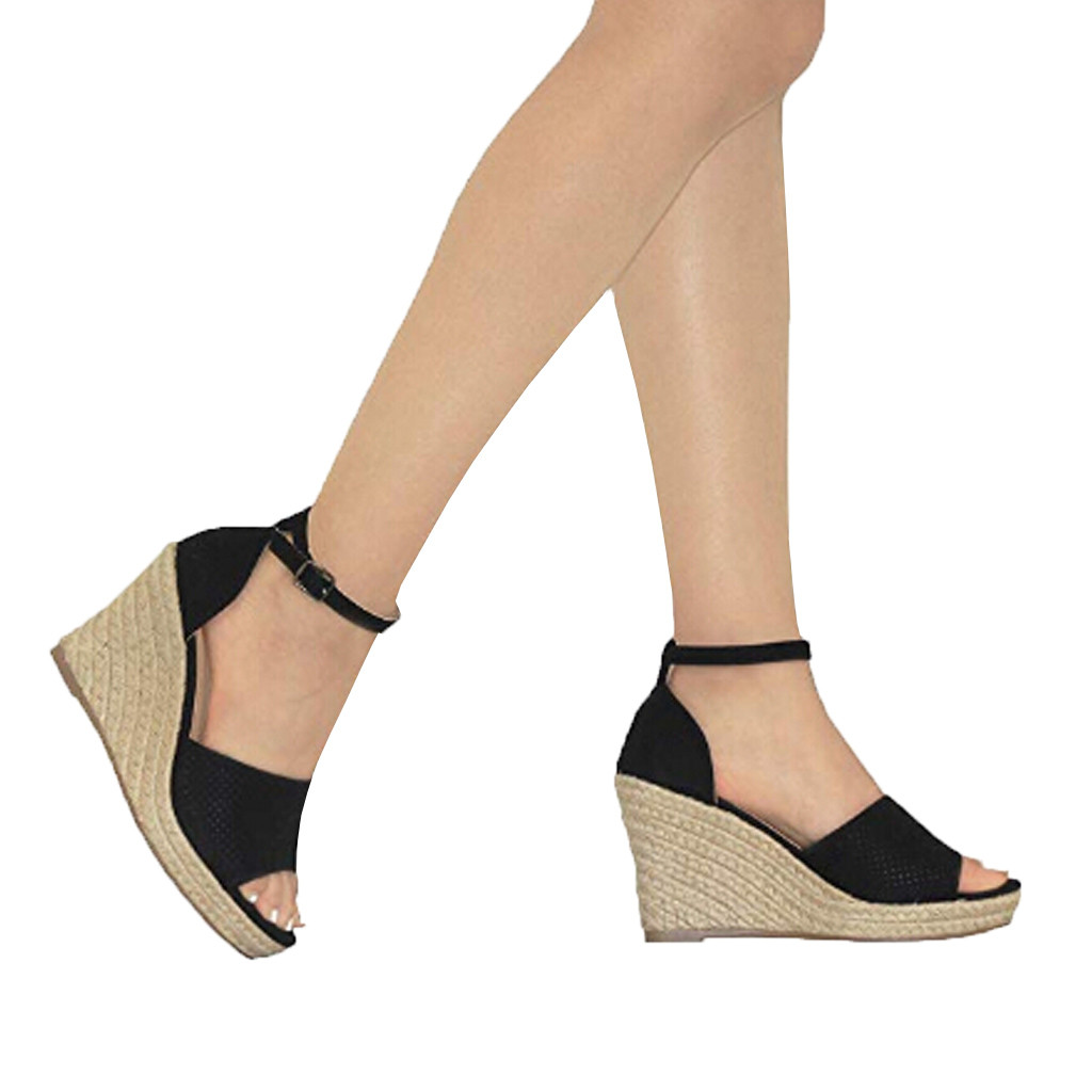 Fashion Women Flock Wedges High Ankle Outdoor Sandals Peep Toe Casual Shoes Suede high wedge with fish mouth sandals 12.5Fashion Women Flock Wedges High Ankle Outdoor Sandals Peep Toe Casual Shoes Suede high wedge with fish mouth sandals 12.5