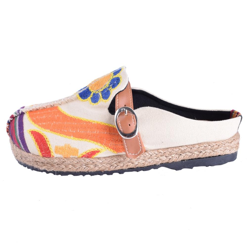 Mujeres de la vendimia Zapatillas de Lino Ocasional de Algodón - Zapatos de mujer - foto 4
