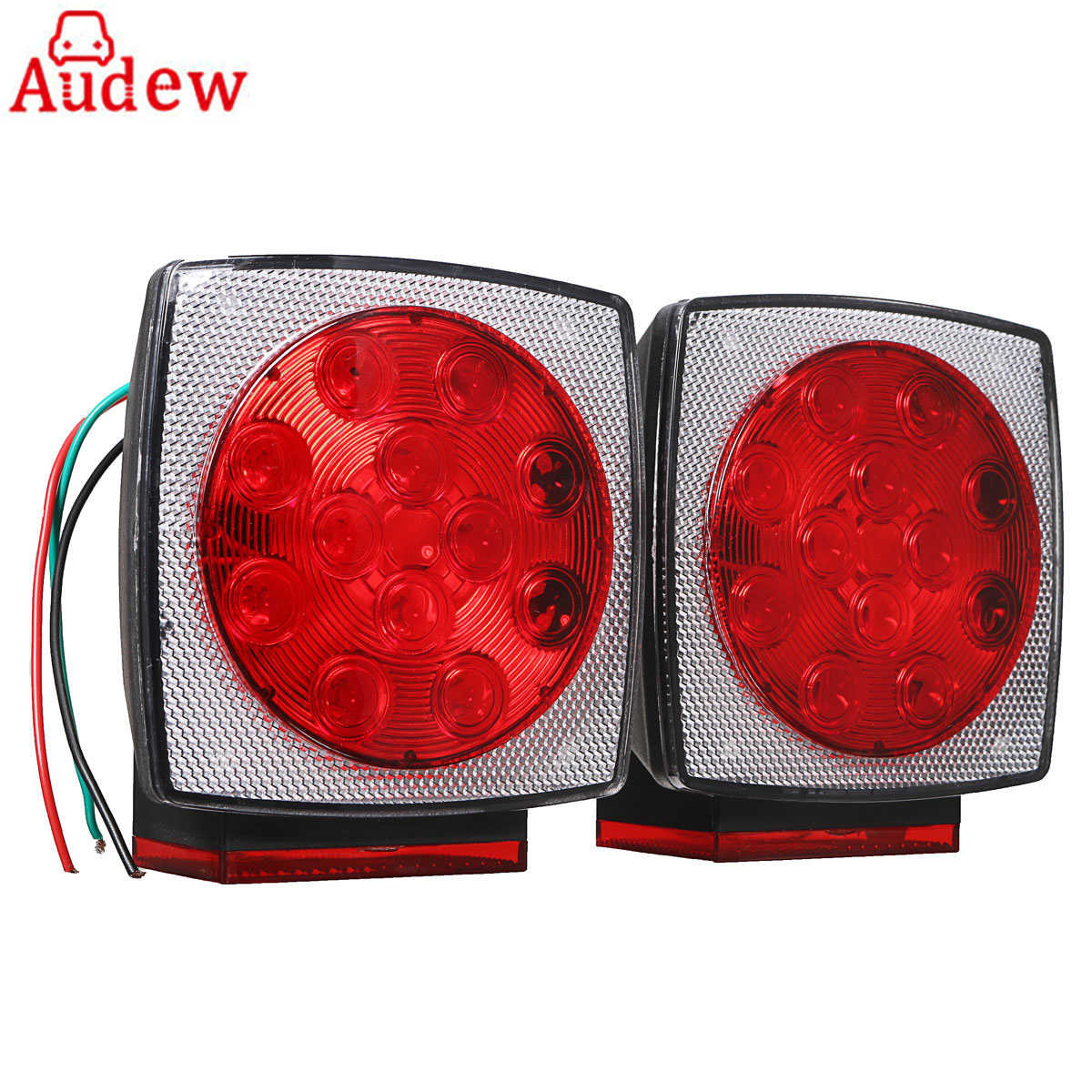 2Pcs LED Car Trailer Rear Brake Stop Light Lamp Tail Turn Signal Lights Tail License Plate Lamp for Vehicle Trailer Truck 2pcs 20 led car truck red amber white led trailer waterproof tail lights turn signal brake light stop rear lamp dc 12v cy798 cn