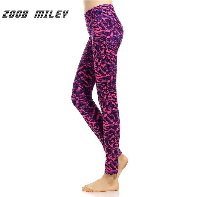Zoob Майли Для женщин быстрое высыхание сжатия Мотобрюки высокие эластичные Йога Леггинсы для женщин тренажерный зал Спортивные Тренировки ... ...