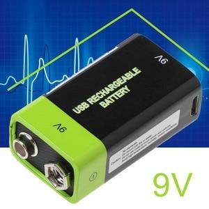 Image 3 - Batería Lipo 6F22 recargable por USB, 9V, 400mAh, para multímetro, micrófono, mando a distancia