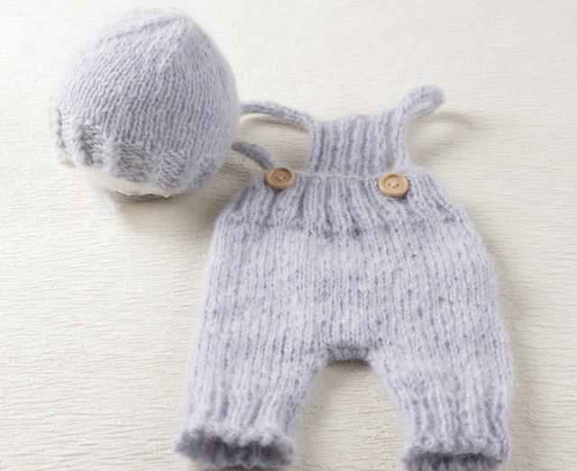 Mohair Crochet gorrito de bebé y mameluco del conjunto. accesorios de Fotografía. bebé Ganchillo Mohair Sombrero