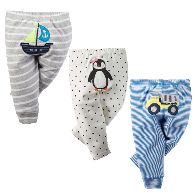 3PCS Cotton Baby Pants 2018 Spring Cartoon Newborn Baby Trousers Baby Boy Clothes Autumn Infant Clothing Toddlers Girls Leggings