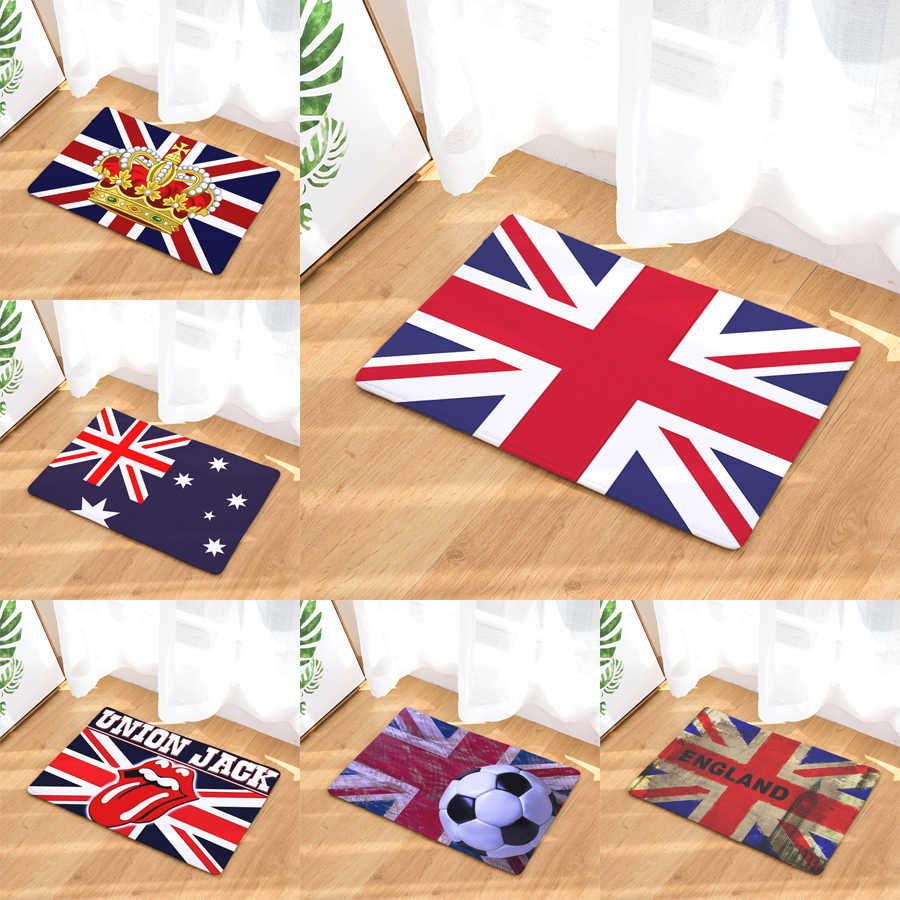 Homing Light Thin Durable Welcome Home Door Mats England Flag Football Cool Carpets Durable Waterproof Kitchen Floor Carpet