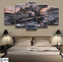 5 Panel IJN Maya Azur Lane Game Poster Canvas Printed Painting For Living Room Wall Art Decor Picture Artworks