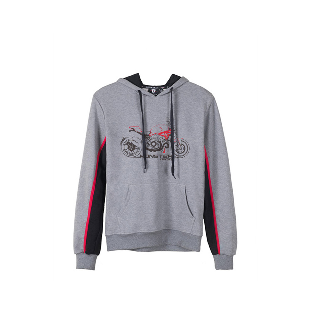 KODASKIN Men Cotton Round Neck Casual Printing Sweater Sweatershirt Hoodies for DUCATI MONSTER 1200 Monster 1200 men color block round neck sweatshirt