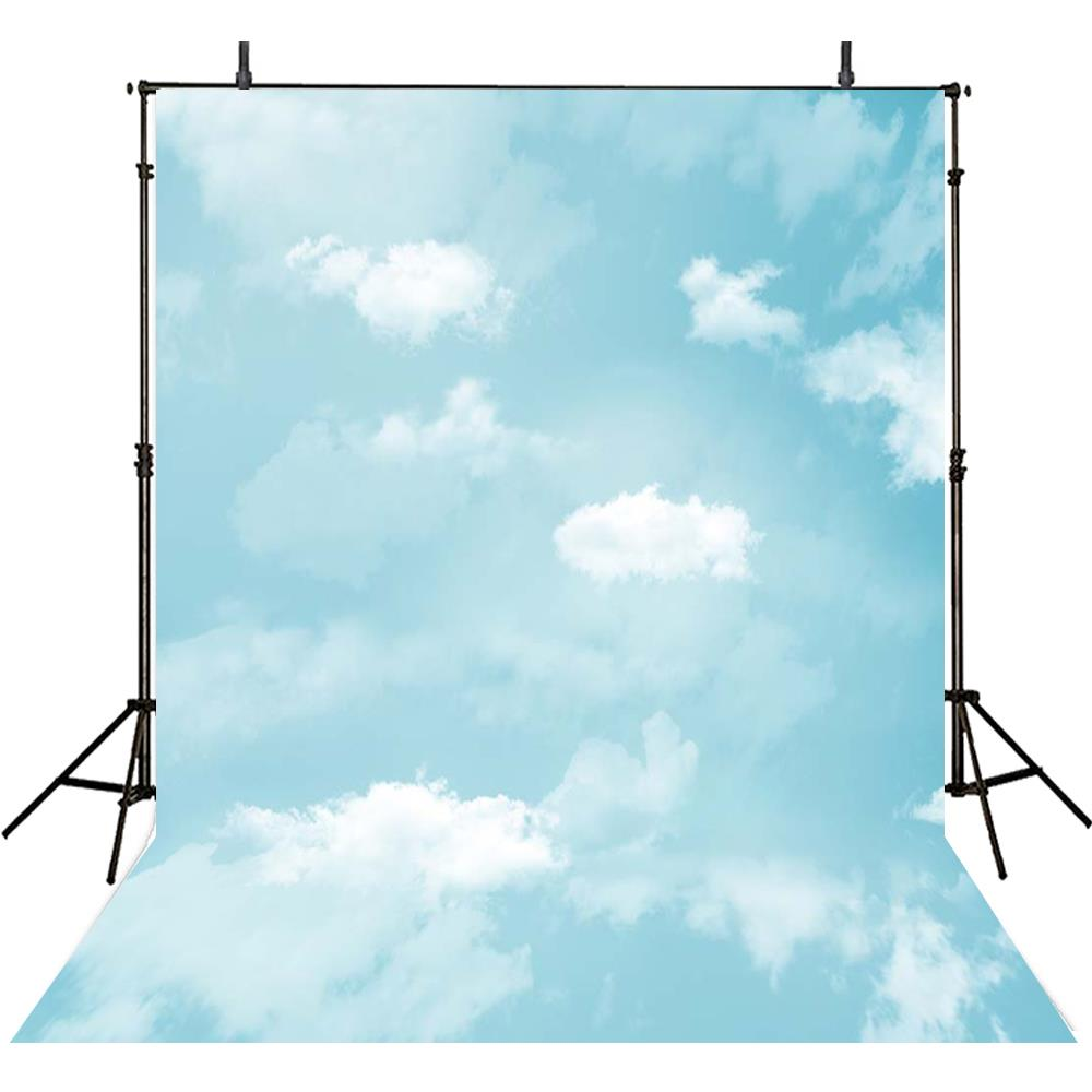 BLue Sky White Clouds backdrop polyester or Vinyl cloth High quality Computer print wall Photography Backgrounds