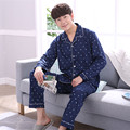 2017 spring male pajamas pure cotton simple young long sleeves large size cotton home pajamas