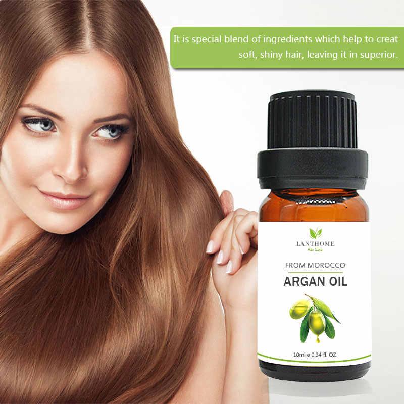 モロッコアルガンオイル保湿 10 ミリリットル修理治療ヘアマスクプロのドライクリーニング破損髪のメンテナンスケラチン