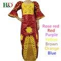 Envío Gratis tradicional de Moda Diseños Africanos Bazin Riche Señora Dashiki Tela Del Vestido Maxi Vestidos Para Las Mujeres de África S2311