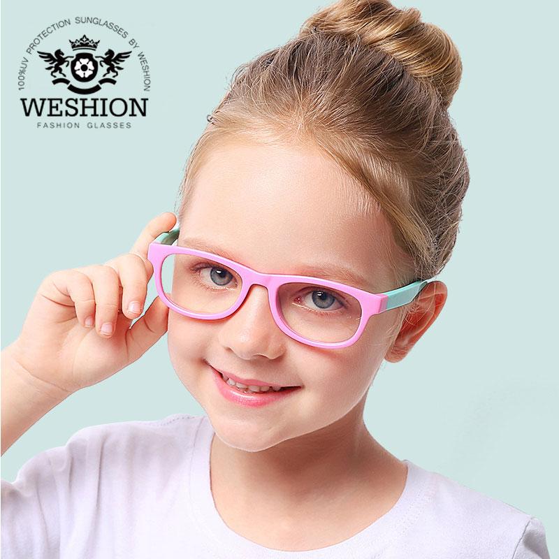 Hell Vintage Blau Licht Kinder Sonnenbrille Brille Rahmen Anti Reflektierende 2018 Junge Mädchen Kinder Transparent Computer Brillen Uv400