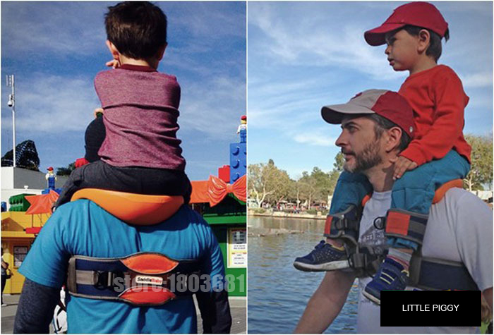 Hands-Free Shoulder Carrier with Ankle Straps and Cushioned Hip Seat Nylon Child Strap Rider travel back frame infant saddle child shoulder carrier