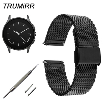 22mm Milanese Watchband Quick Release for Vector Luna Meridian Smart Watch Band Mesh Stainless Steel Strap Bracelet Black Silver