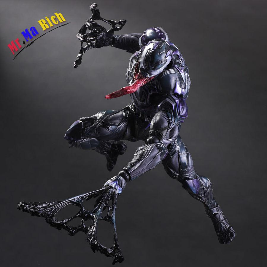 Play Arts Kai VARIANT Marvel Universe Venom Action Figure Toy Doll Model Display fantastic four knight ultimate stonema thing human torch doll handmade toy model marvel t21
