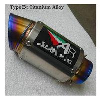 Customized Universal ID 51MM 61MM 63MM Titanium Alloy Carbon Exhaust Muffler Tips R3 Exhaust Gn250 Ttr