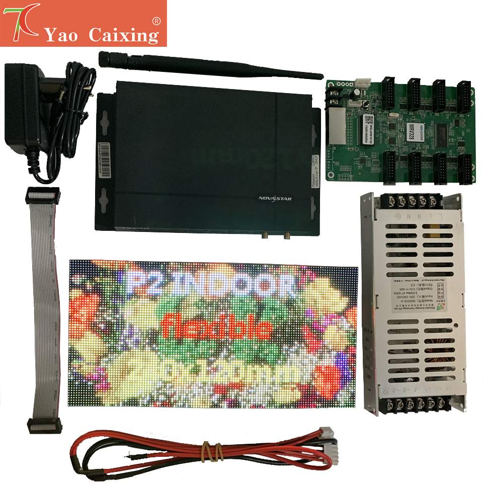 Free Shipping P2 Flexible Panel With Wifi Controller Power Supplly Plug And Play Diy Sample Led Display Screen