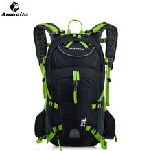 Motorcycle Backpack With Reflective Safety Color 25L Waterproof Cycling Bag Outdoor Bike Travel Rucksack&Helmet Net Cover