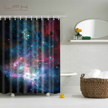 LFH Shower Curtain 180X180CM Shining Stars Space Cool Universe Customize Design Waterproof Bath Antimicrobial Bathroom Curtains