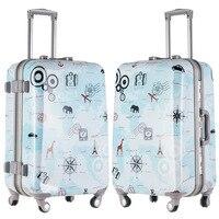 20 24 дюймов Spinner Колёса алюминиевый сплав магния багаж Для мужчин граффити путешествия Чемоданы сумка Для женщин Алюминий Рамки тележка чех