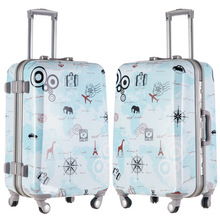 20 24 Inch Spinner Wheels Aluminium Magnesium Alloy Luggages font b Men b font Graffiti Travel
