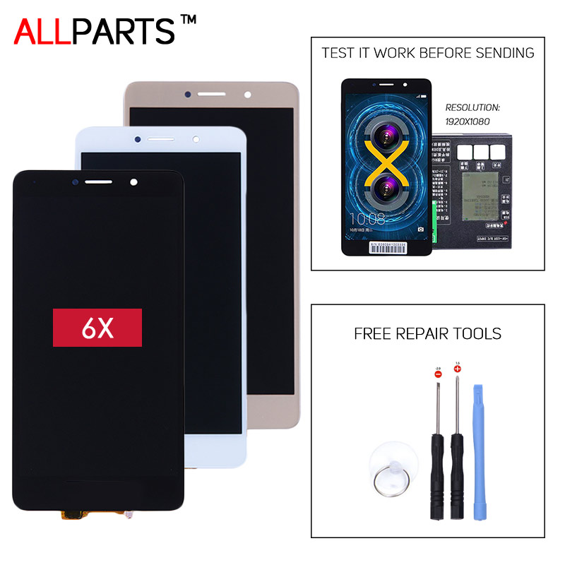 TESTED Original IPS 5.5 inch 1920x1080 Display For HUAWEI Honor 6X LCD Touch Screen Digitizer Assembly BLN-AL10 BLN-L24 BLN-21