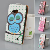 JR For Microsoft Nokia Lumia 550 Case Skin Printing Pattern High Quality PU Leather Case Flip