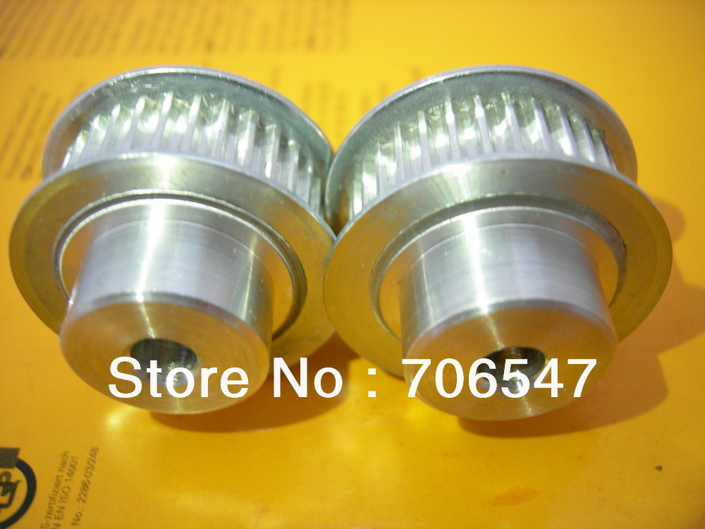 Free Shipping 2 Pcs 16T5-10 Aluminum Timing Belt Pulley And 2m PU T5-10 Open Timing Belt цены