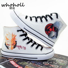 Whoholl 2018 New Superstar Slip on Canvas Women Shoes Naruto Spring Autumn Womens Hand Painted Board Lace Up Casual