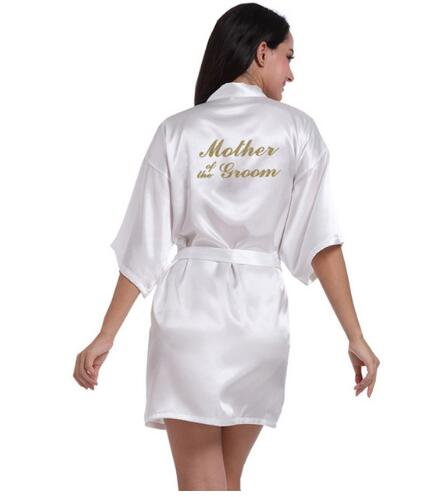 Wedding Mother of the groom Robe Bride Robe Floral Bathrobe Kimono Robe Night Robe Bath Robe Fashion Dressing Gown For Women