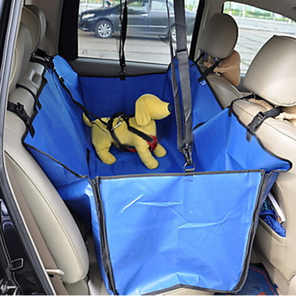 Oxford Fabric Car Pet Seat Covers Security Buckle Waterproof Back Bench Seat Travel Accessories Car Seat Covers Mat for Pets Dog