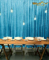 ShinyBeauty 8FTx8FT Turquoise Sequin Backdrop For Wedding/Party/Events Decoration &a r