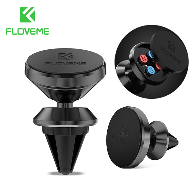 Floveme Metal Universal Car Phone Holder Magnetic Air Vent Mount Dock GPS Navigate 360 Phone Holder For iPhone 7 6 6S for Mate 9