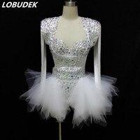 Ночной куб бар DJ DS женский костюм сексуальный боди Модные кисточки принт облегающие комбинезоны вечерние шоу костюмы для выступлений