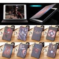 Super Man Captain America PU Leather Ultra Slim Case For Ipad Air 1 2 Ipad 5