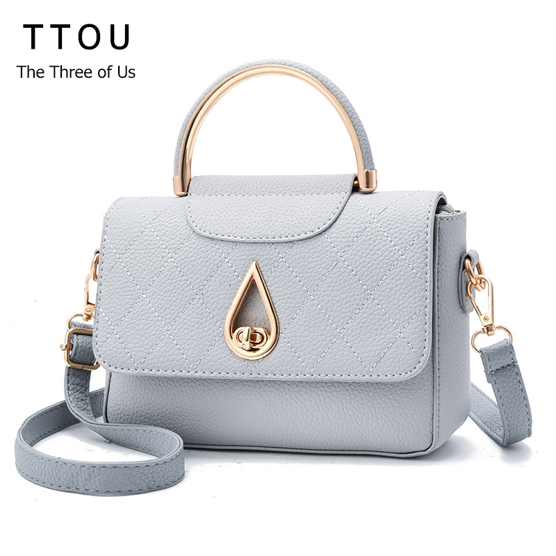 TTOU Fashion Women Handbag Pu Leather Shoulder Bag Solid Messenger Bag Designer Shoulder Bags Bolsa Feminina Hasp Closure miwind 2017 new women handbag pu leather female bags fashion shoulder bag high quality 6 piece set designer brand bolsa feminina