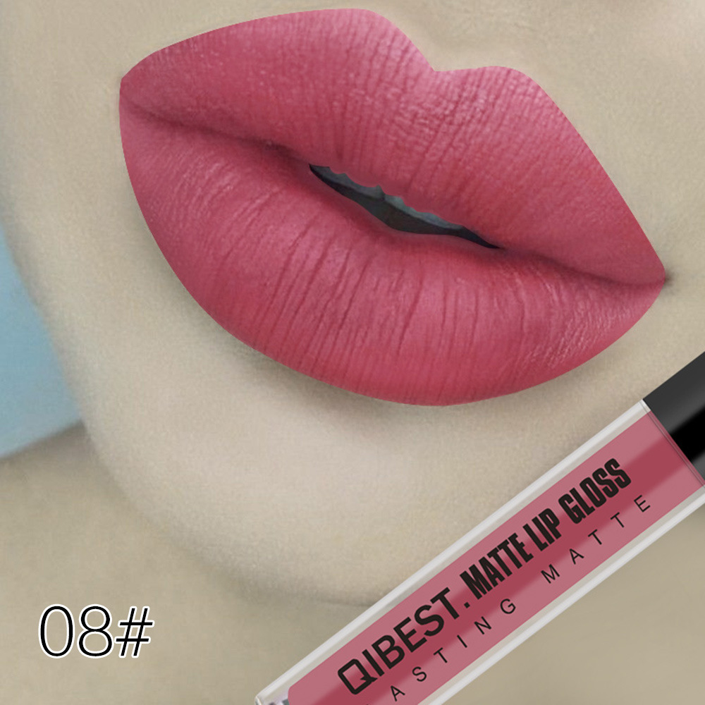 Nice Face 18 Colors Waterproof Matte Liquid Lipstick Rouge A