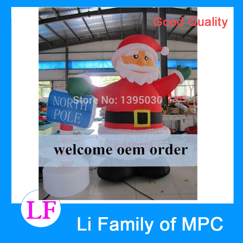 1pc 2.4M Christmas arch Inflatable cartoon Santa Claus gas model datang Christmas free shipping hot sales inflatable christmas santa claus christmas decoration