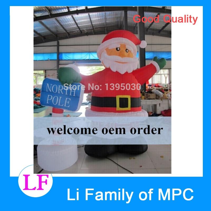 1pc 2.4M Christmas arch Inflatable cartoon Santa Claus gas model datang Christmas cartoon santa claus cushion christmas pillow case