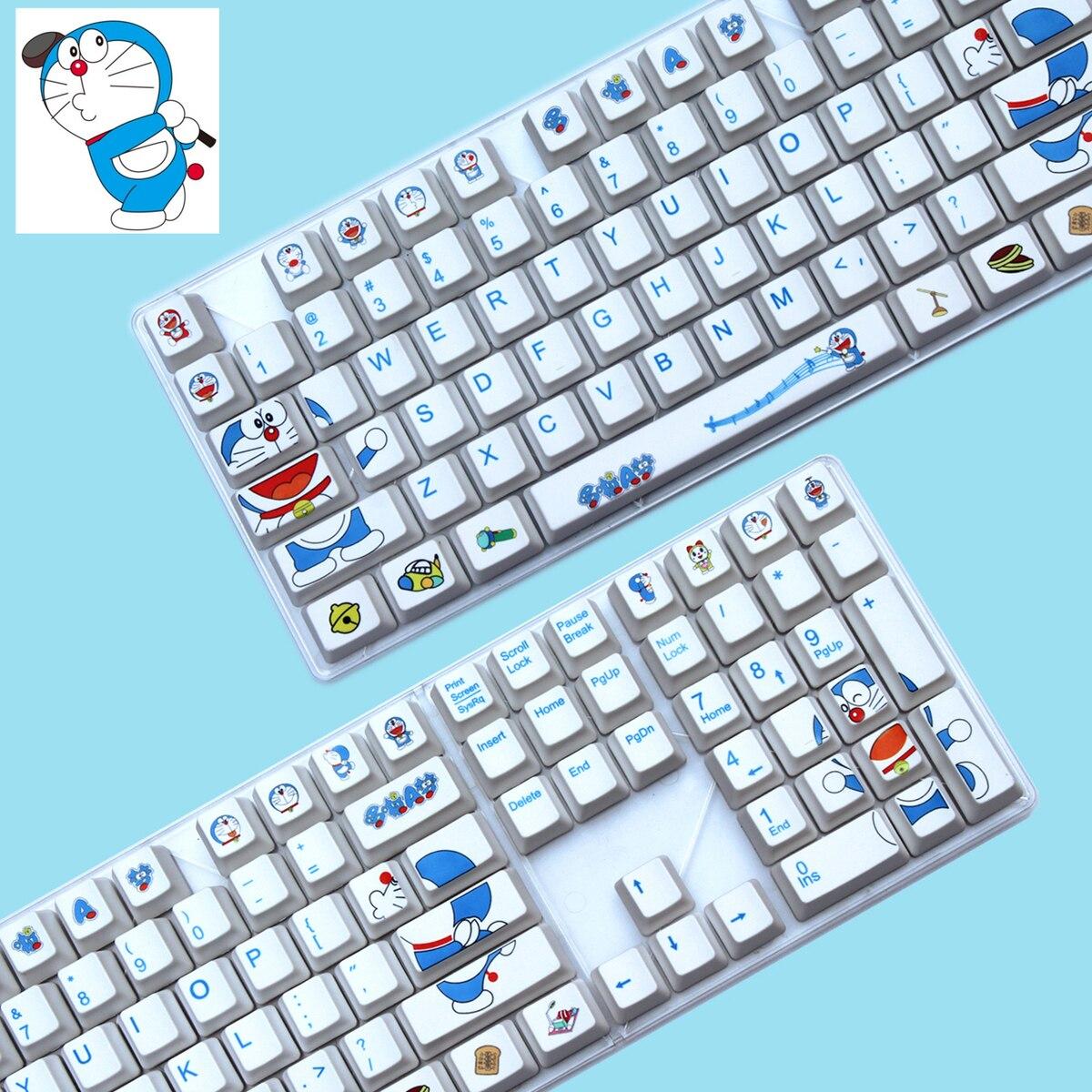 108 Keys/set PBT Dye-Sublimation Key Caps Personality Mechanical Keyboard Key Cap For Doraemon Filco IKBC OEM/Cherry Profile