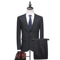 Suits For Men 2017 Latest Coat Pant Designs 2 Pieces Formal Grey Male Suit Luxury