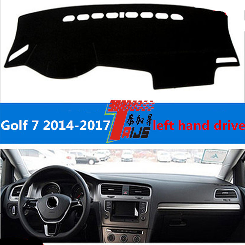 TAIJS left hand drive car dashboard mat cover pad for Volkswagen Golf 7 2014-2017 special mat for Volkswagen